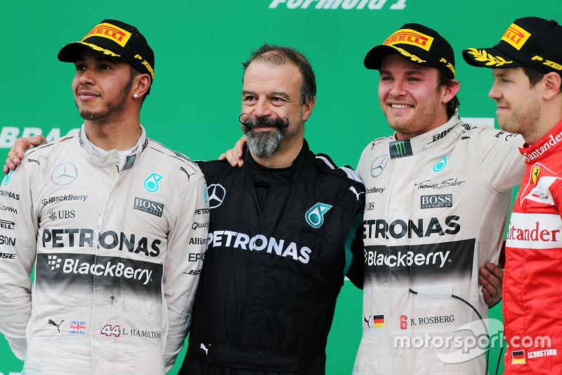 Podium: 1. Nico Rosberg, Mercedes AMG F1 W06; 2. Lewis Hamilton, Mercedes AMG F1 W06; 3. Sebastian V