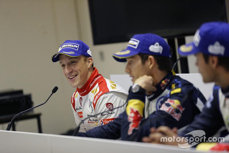 Kris Meeke, Citroën World Rally Team, in der Pressekonferenz