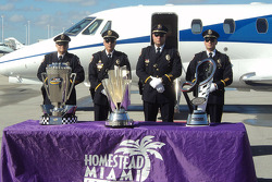 Trophies arrive in Miami