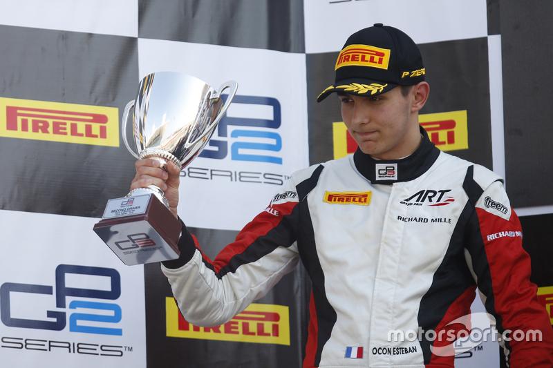 Race 2 second place Esteban Ocon, ART Grand Prix
