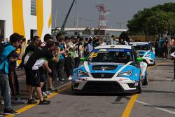 Il vincitore Stefano Comini, SEAT Leon, Target Competition