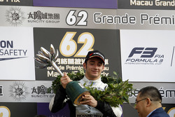 Podium: second place Charles Leclerc, Van Amersfoort Racing