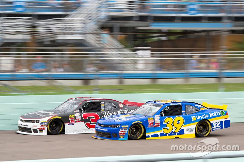Ryan Sieg, RSS Racing Chevrolet and Ty Dillon, Richard Childress Racing Chevrolet