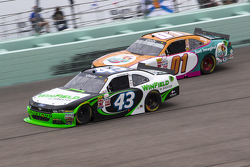 Dakoda Armstrong, Richard Petty Motorsports Ford and Landon Cassill, JD Motorsports Chevrolet