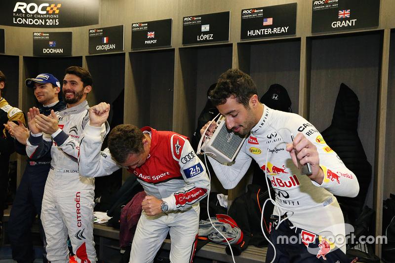 José María López, Tom Kristensen, Daniel Ricciardo