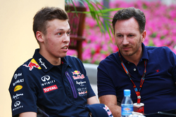 Daniil Kvyat, Red Bull Racing with Christian Horner, Red Bull Racing Team Principal