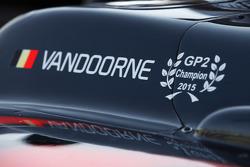 De wagen van Stoffel Vandoorne, ART Grand Prix
