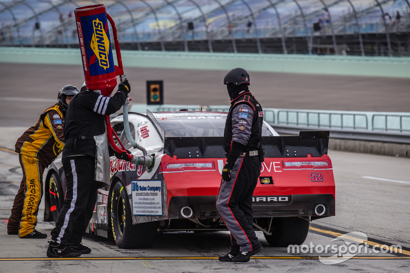Pit stop for Joey Gase, Jimmy Means Racing Chevrolet