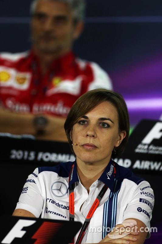 Claire Williams, Williams in de FIA persconferentie