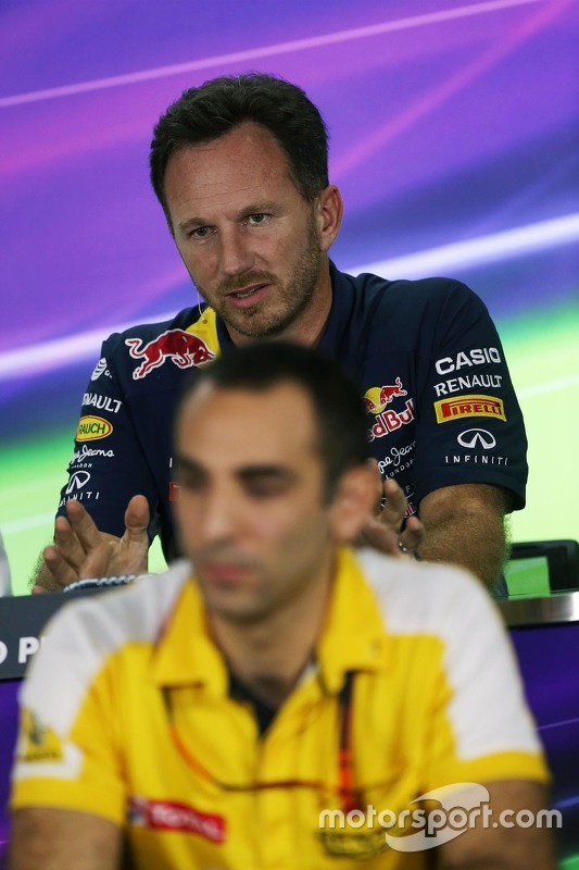 Крістіан Хорнер, Red Bull Racing Керівник команди та Сиріл Абітебул, Renault Sport F1 Managing Direc