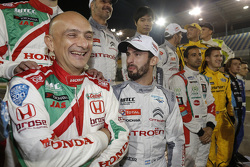 Gabriele Tarquini, Honda Civic WTCC, Honda Racing Team JAS, Jose Maria Lopez, Citroën C-Elysée WTCC, Citroën World Touring Car team