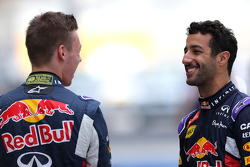 Daniel Ricciardo, Red Bull Racing and Daniil Kvyat, Red Bull Racing
