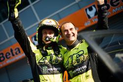 I vincitori Valentino Rossi e Carlo Cassina, Ford Fiesta