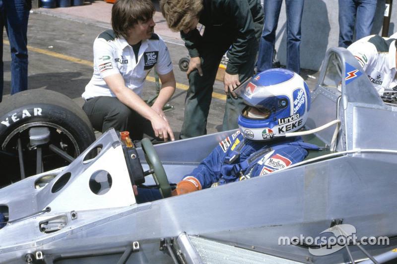 Keke Rosberg en su Williams de 1982, cuando ganó el Mundial