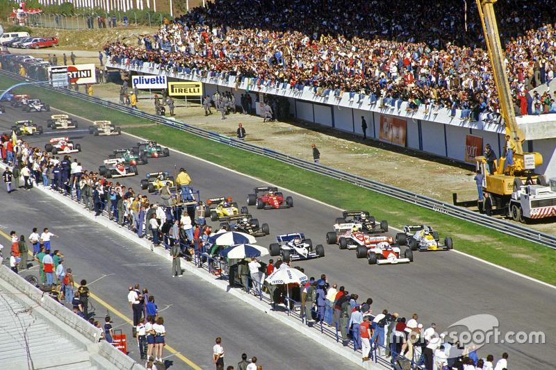 Inicio: Alain Prost, McLaren y Keke Rosberg, Williams lídera