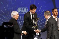 Lewis Hamilton, Mercedes AMG F1, Bernie Ecclestone, Toto Wolff, Mercedes AMG F1 Accionista y Directo