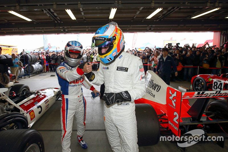 Fernando Alonso en Takuma Sato