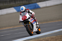 Fernando Alonso rides a Honda bike
