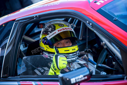 Driver prepares for a lap of Fuji