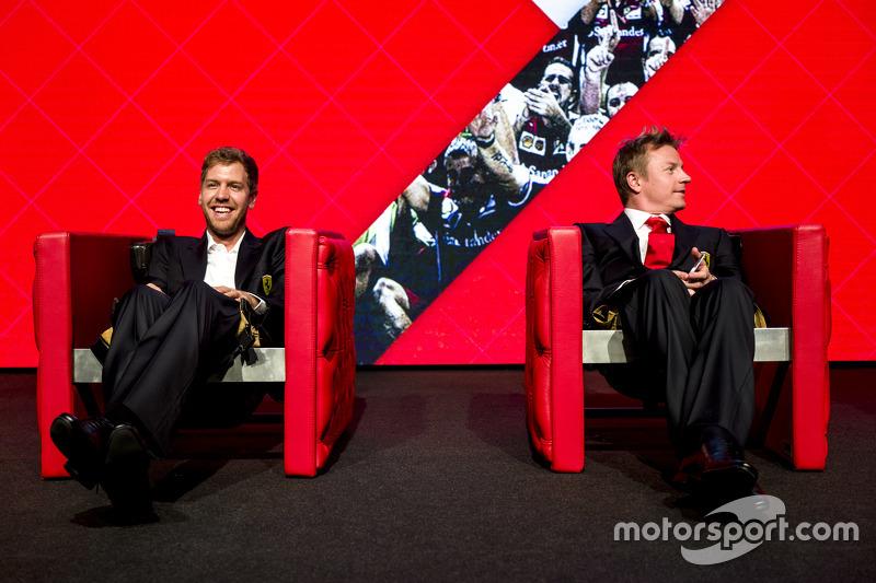 Sebastian Vettel con Kimi Raikkonen