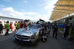 #35 Team AAI, Mercedes SLS AMG GT3: Han-Chen Chen, Nobuteru Taniguchi, Hiroki Yoshimoto, Tatsuya Tanigawa