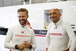 Tiago Monteiro, Honda Racing Team JAS, und Gabriele Tarquini, Honda Racing Team JAS