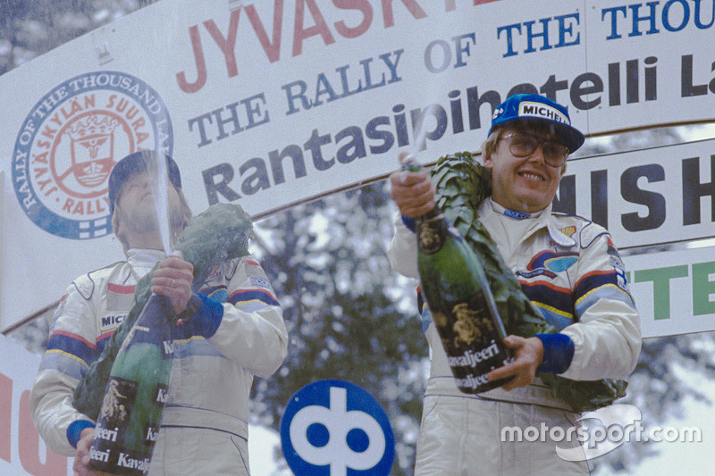Ganadores Timo Salonen y Seppo Harjanne, Peugeot 205 T16