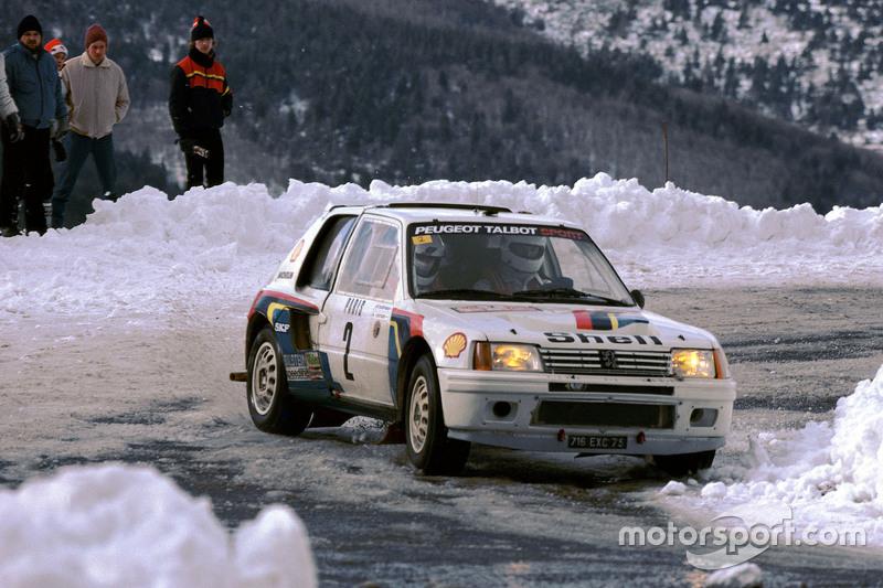Ari Vatanen y Terry Harryman, Peugeot 205 T16