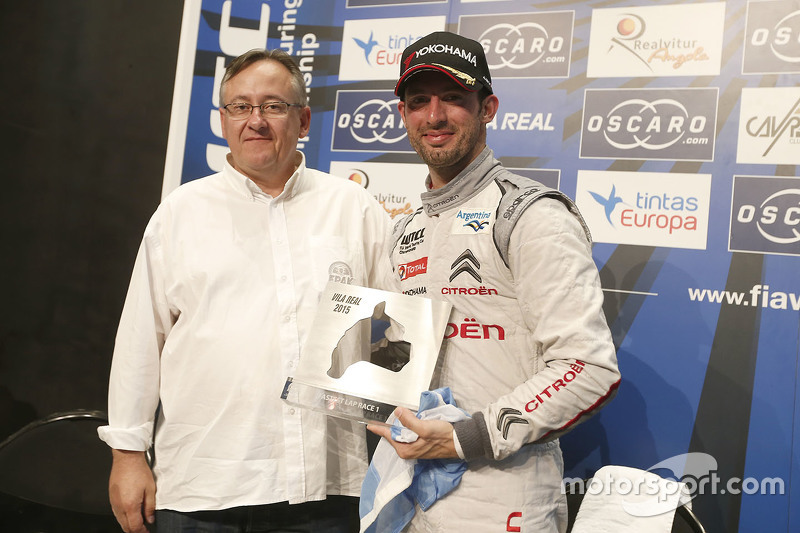 Jose Maria Lopez, Citroën World Touring Car team with the fastest lap trophy