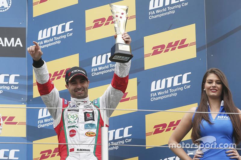 Podium: Mehdi Bennani, Citroën C-Elysee WTCC, Sébastien Loeb Racing