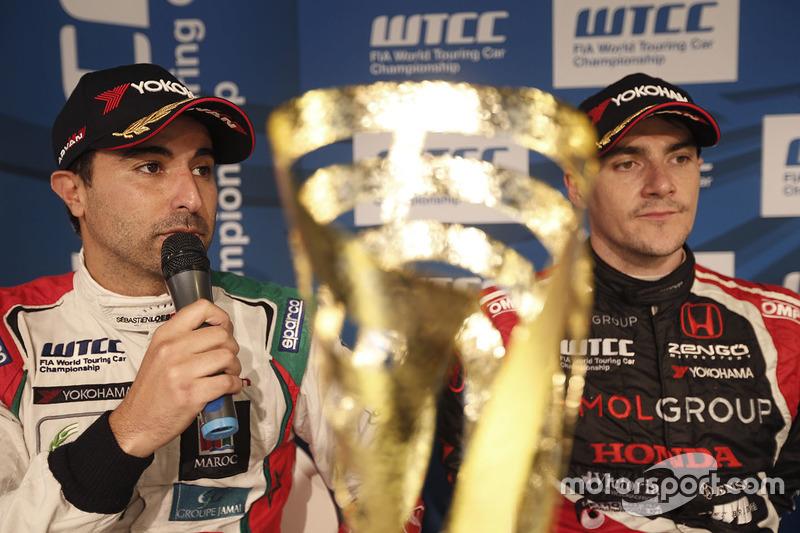Press conference: Mehdi Bennani, Citroën C-Elysee WTCC, Sébastien Loeb Racing and Norbert Michelisz, Honda Civic WTCC, Zengo Motorsport