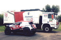 RD拉力车队为罗曼·杜马斯、弗朗索瓦·鲍索托准备比赛用车标致2008 DKR15+