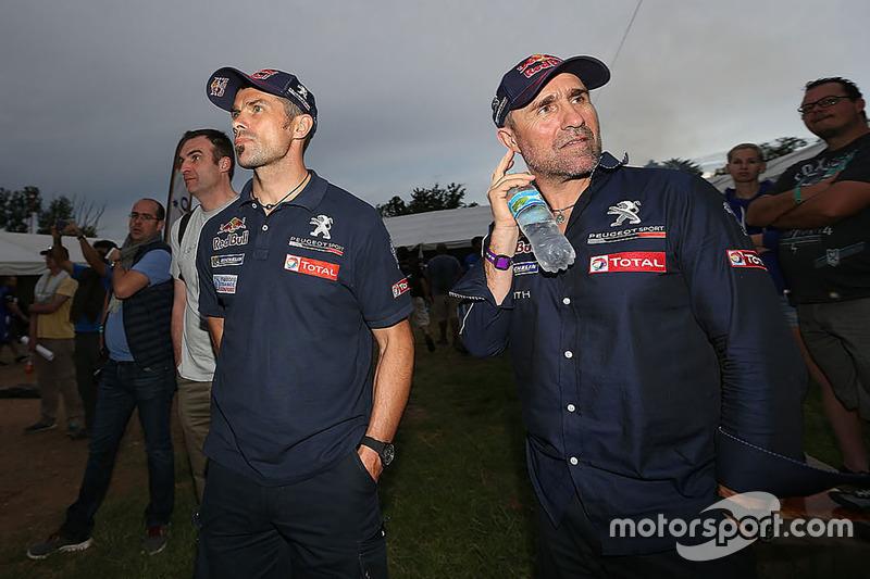 Cyril Despres y Stéphane Peterhansel, Peugeot Sport
