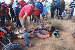 #292 Yamaha: Marcelo Medeiros after crashing