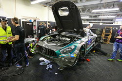 #3 Black Falcon Mercedes AMG GT3: Abdulaziz Al Faisal, Hubert Haupt, Yelmer Buurman, Bernd Schneider, Michal Broniszewski in pit box