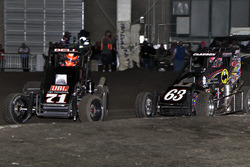 Christopher Bell and Bryan Clauson  im Kampf um die Positionen