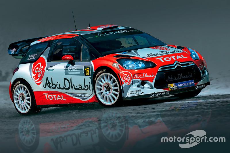 Citroen DS3 WRC команды Abu Dhabi Total WRT