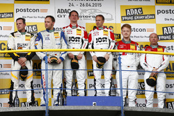 AM Podium: 2nd Remo Lips, Sven Barth, RWT Racing Team Corvette Z06.R GT3, 1st Dominic Jöst, Florian Scholze, MRS GT-Racing Nissan GT-R NISMO GT3, 3rd Andreas Weishaupt, Christer Jöns, C. Abt Racing Audi R8 LMS ultra