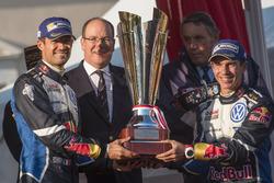 Podium: Ganadores, Sébastien Ogier, Julien Ingrassia, Volkswagen Motorsport with Prince Albert II