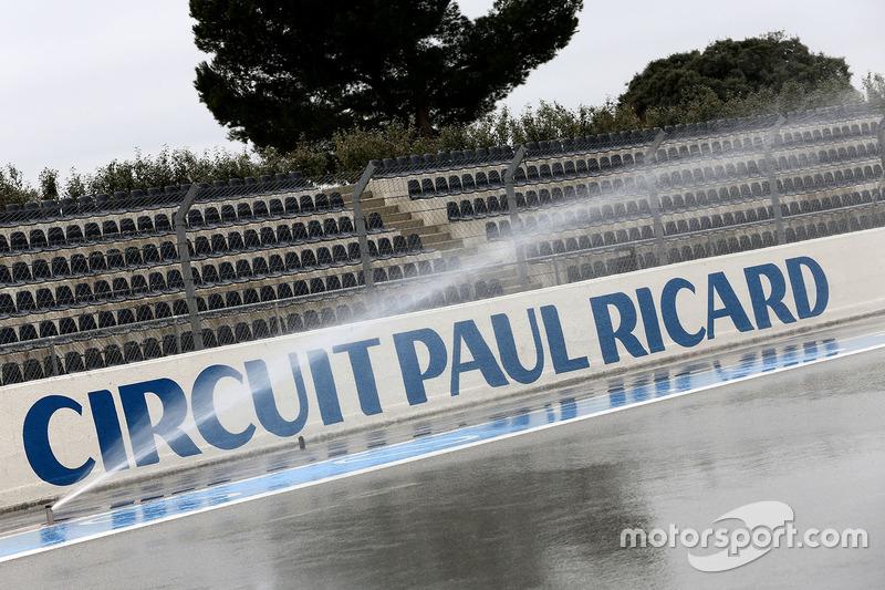 Sistema de irrigação do circuito de Paul Ricard