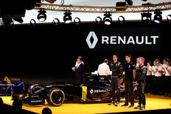 (L to R): Carlos Ghosn, Chairman of Renault with Jolyon Palmer, Renault F1 Team; Esteban Ocon, Renault F1 Team Test Driver; and Kevin Magnussen, Renault F1 Team