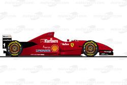 Der Ferrari F310 von Michael Schumacher in der Saison 1996