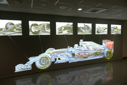 Display in the Scuderia Toro Rosso workshop
