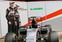Nico Hülkenberg, Sahara Force India F1 et Sergio Pérez, Sahara Force India F1