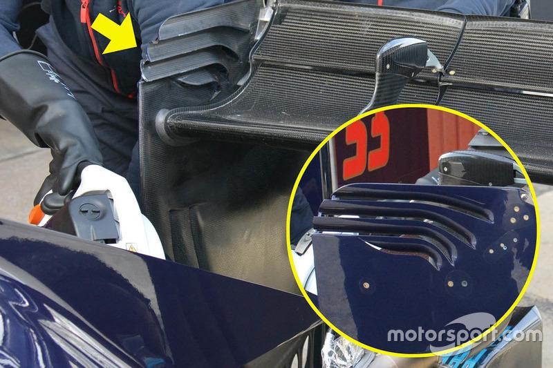 Scuderia Toro Rosso STR11 achtervleugel detail