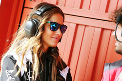 Lara Alvarez, girlfriend of Fernando Alonso, McLaren