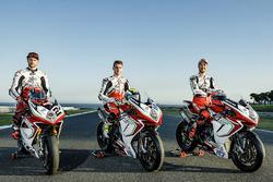 Leon Camier, Jules Cluzel und Lorenzo Zanetti, MV Agusta F4 RC