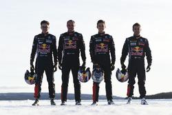 Sebastien Loeb, Kevin Hansen, Timmy Hansen e Davy Jeanney