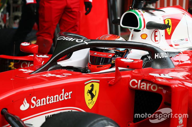 Kimi Raikkonen, Ferrari SF16-H con el Halo 1