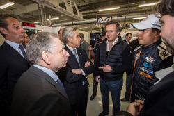 Jean Todt, Presidente de la FIA, Alejandro Agag, CEO de fórmula E y Salvador Duran, equipo Aguri
